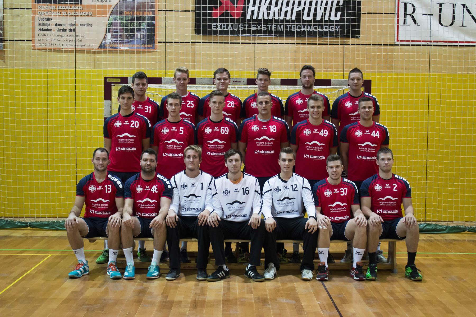 Članska ekipa v rdečih dresih